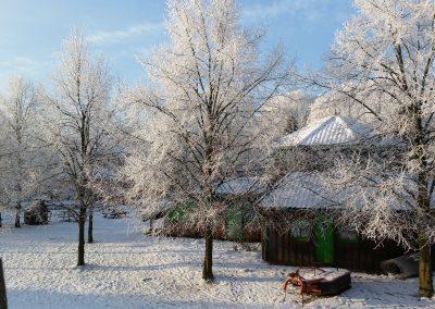 Die Farm im Winter