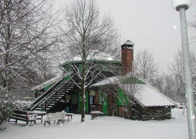 Farmhaus im Schnee